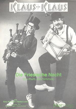 Die friesische Nacht: Einzelausgabe für Gesang und Klavier