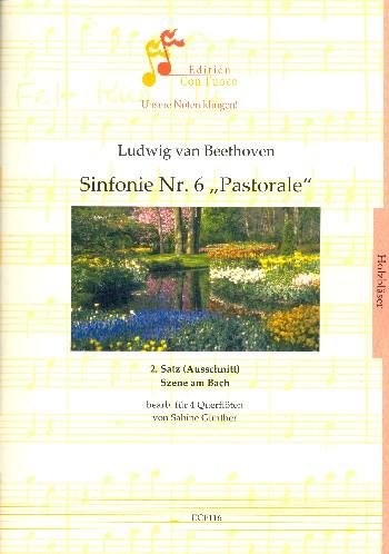 2. Satz (Ausschnitt) aus der Sinfonie F-Dur Nr.6 opus.68: für 4 Flöten
