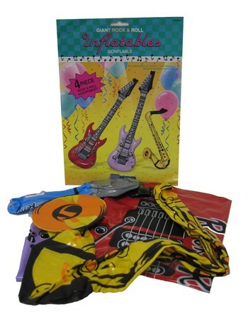 4 Inflantables Instruments: 2 guitars, saxophone and microphone