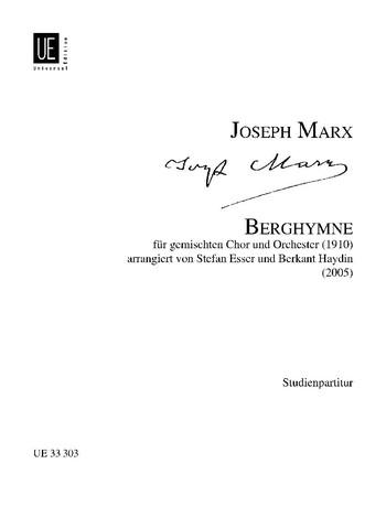 Berghymne: für gem Chor und Orchester Studienpartitur