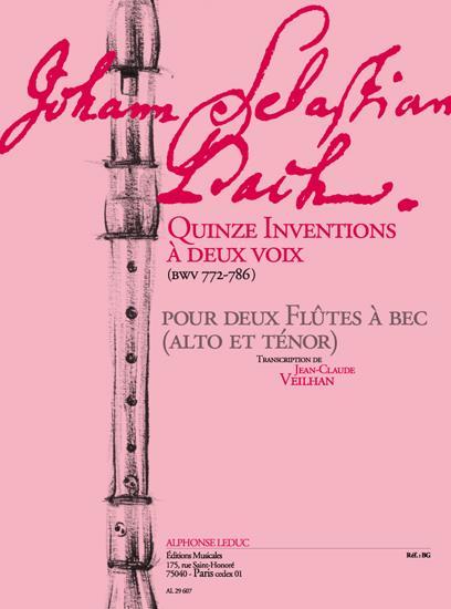 Bach, Johann Sebastian - 15 Inventions a deux voix BVW772-786 : pour