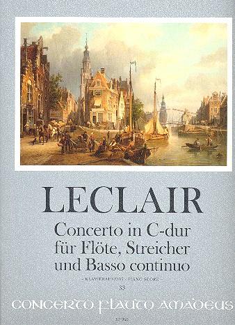 Concerto C-Dur op.7,3 für Flöte, Streicher und Bc: für