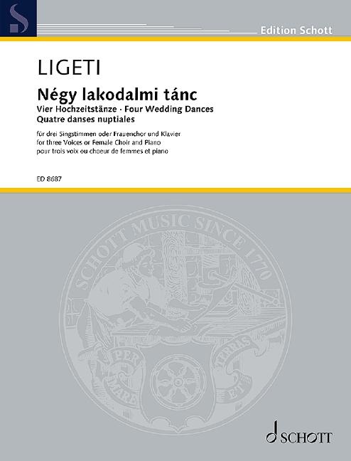 4 Hochzeitstänze: für 3 Singstimmen (Frauenchor) und Klavier