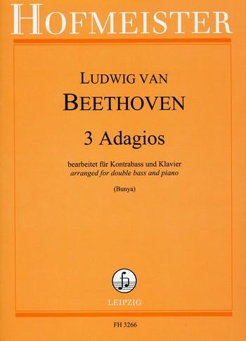 3 Adagios: für Kontrabass und Klavier