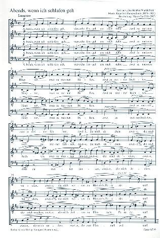 2 Abendlieder: für gem Chor a cappella