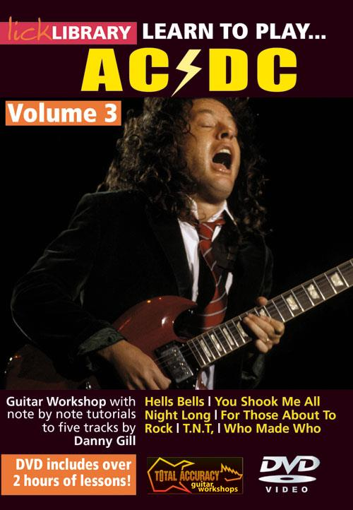 Learn to play AC/DC vol.3: DVD-Video Lick Library