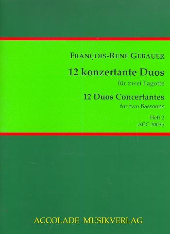 Gébauer, Francois-Réné - 12 duos concertants op.44 Band 2 (Nr.4-6) :