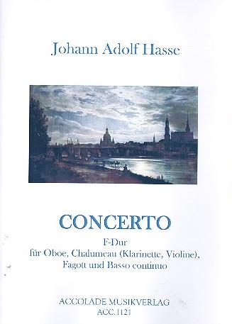 Concerto F-Dur: für Oboe, Chalumeau (Klarinette), Fagott und Bc