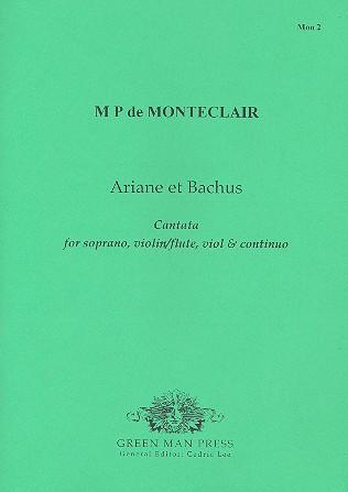 Montéclair, Michel Pinolet de - Ariane et Bachus : für Sopran,