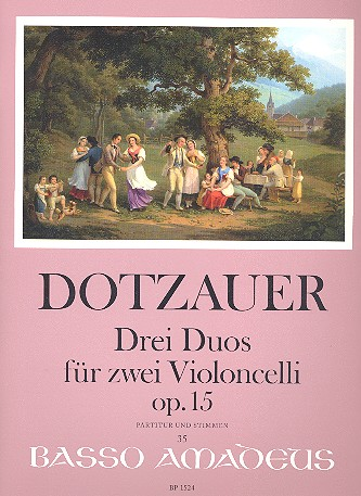 Dotzauer, Justus Johann Friedrich - 3 Duos op.15 : für 2 Violoncelli