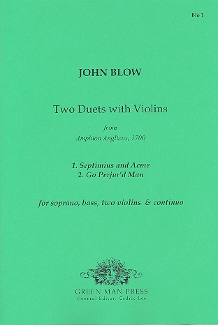 2 Duets with Violins: for soprano, bass, 2 violins and bc