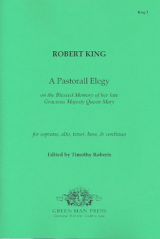 A Pastorall Elegy: for soli (SATB) and Bc 5 scores and continuo part