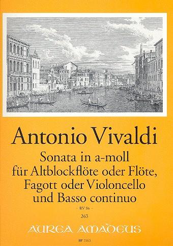 Vivaldi, Antonio - Sonate a-Moll RV86 : für Altblockflöte (Flöte),