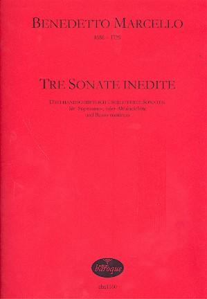 3 Sonate inedite: für Sopranino- oder Altblockflöte und Bc