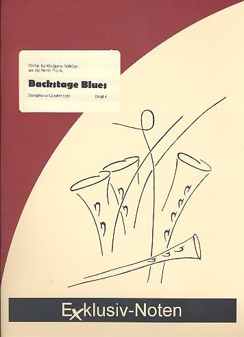 Backstage Blues: für 4 Saxophone (SATBar) Partitur und Stimmen