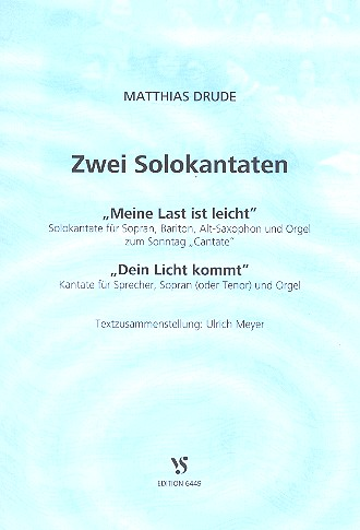 2 Solokantaten: für 2 Stimmen und Instrument(e) Partitur