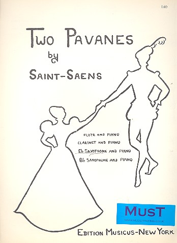 2 Pavanes: for alto saxophone and piano