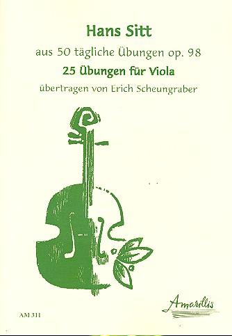 25 Übungen opus.98: für Viola
