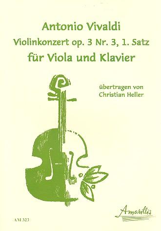 1. Satz aus dem Konzert opus.3,3: für Viola und Klavier (in C-Dur)