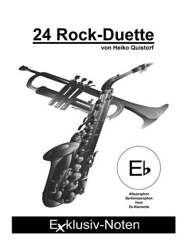 24 Rock-Duette: für 2 Es-Instrumente im Violinschlüssel