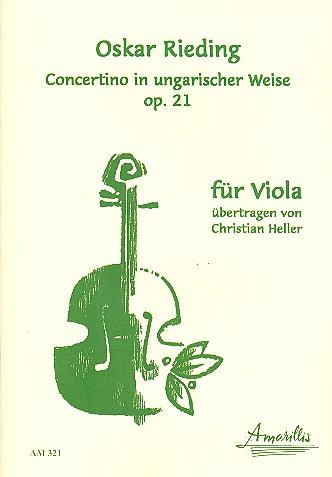 Concertino in ungarischer Weise opus.21: für Viola