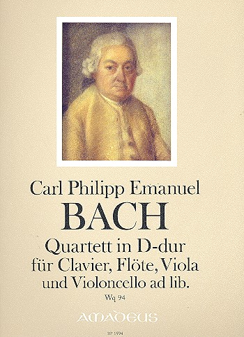 Bach, Carl Philipp Emanuel - Quartett D-Dur Wq94 : für Klavier, Viola,