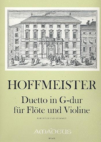 Hoffmeister, Franz Anton - Duett G-Dur : für Flöte und Violine