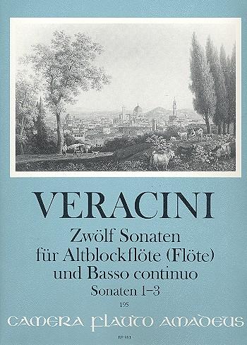 12 Sonaten Band (Nr.1-3): für Altblockflöte (Flöte/Violine) und Bc