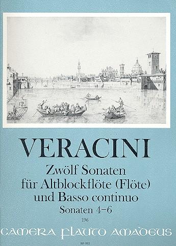 12 Sonaten Band (Nr.4-6): für Altblockflöte (Flöte/Violine) und Bc