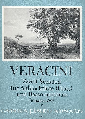 12 Sonaten Band (Nr.7-9): für Altblockflöte (Flöte/Violine) und Bc
