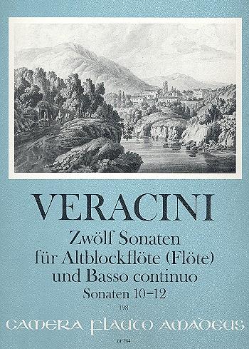 12 Sonaten Band (Nr.10-12): für Altblockflöte (Flöte/Violine) und Bc