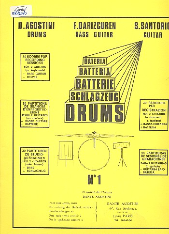 Drums vol.1 - 30 Scores for recording Sessions