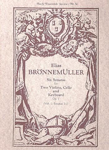 6 Sonatas op.1 vol.1 (nos.1-3): for 2 violins, cello and keyboard