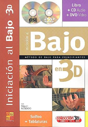 Iniciacion al Bajo en 3D (+CD + DVD) (sp)