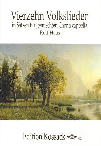 14 Volkslieder: für gem Chor a cappella Partitur