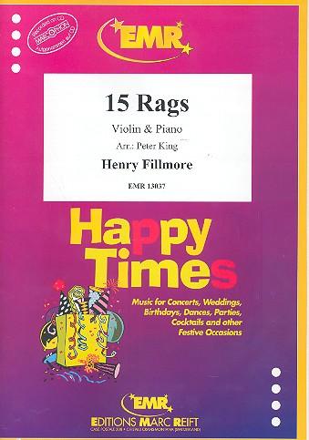 15 Rags: für Violine und Klavier