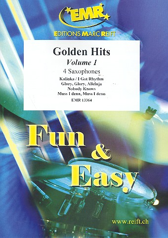 Golden Hits Band 1: für 4 Saxophone (S(A)ATBar) (Klavier/Orgel und Percussion ad lib)