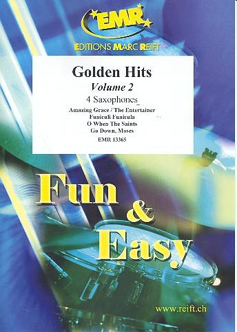 Golden Hits Band 2: für 4 Saxophone (S(A)ATBar) (Klavier/Orgel und Percussion ad lib)