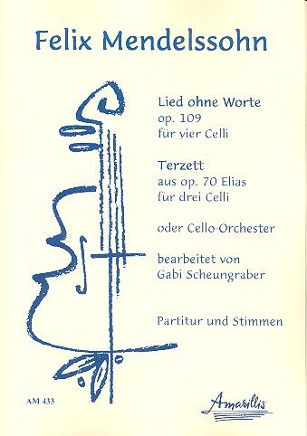 Mendelssohn-Bartholdy, Felix - 2 Stücke : für 3-4 Violoncelli (Ensemble)