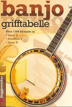 Banjo Grifftabelle: Über 1300 Akkorde in Open C, Standard C und Open D