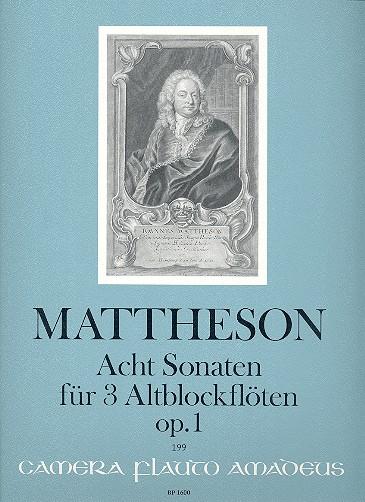 8 Sonaten op.1: für 3 Altblockflöten Partitur und Stimmen