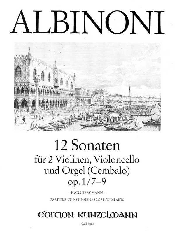 12 Sonaten opus.1 Band 3 (Nr.7-9): für 2 Violinen, Violoncello und Orgel