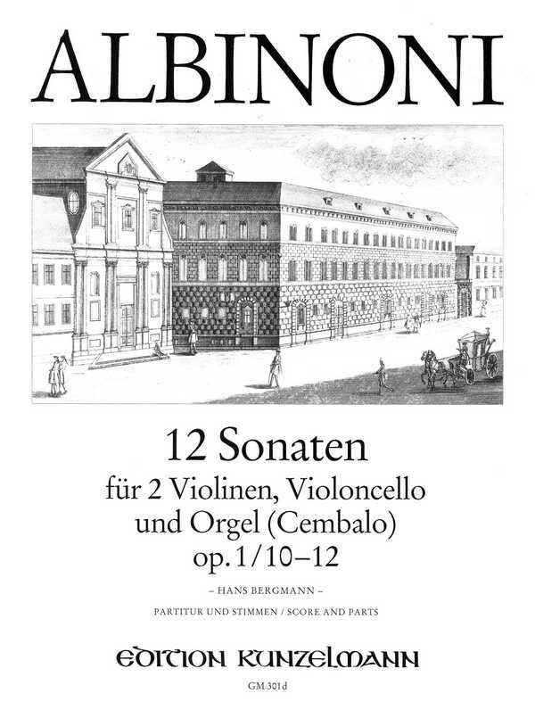 12 Sonaten opus.1 Band 4 (Nr.10-12): für 2 Violinen, Violoncello und Orgel