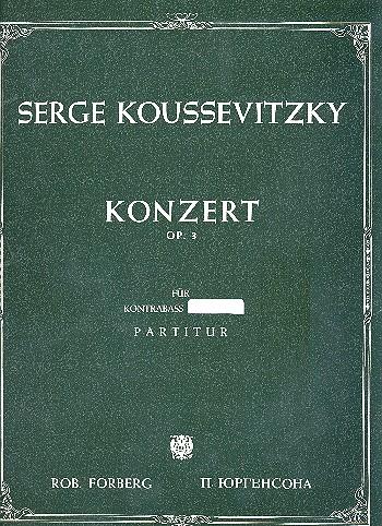 Konzert fis-Moll op.3: für Kontrabass und Orchester