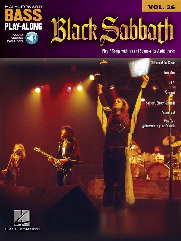 Black Sabbath (+CD): bass playalong vol.26 songbook vocal/bass/tab