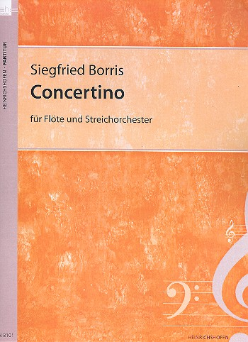 Concertino opus.71: für Flöte und Streicher Partitur