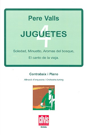 4 juguetes: for double bass (orchestra tuning)