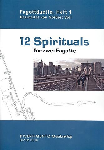 12 Spirituals: für zwei Fagotte Spielpartitur