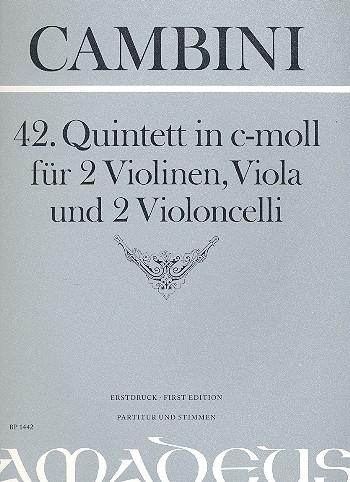 42. Quintett in c-moll: für 2 Violinene/Viola/2Violoncelli