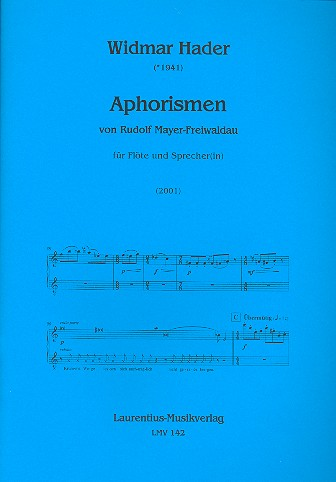 Aphorismen: für Flöte und Sprecher 2 Partituren